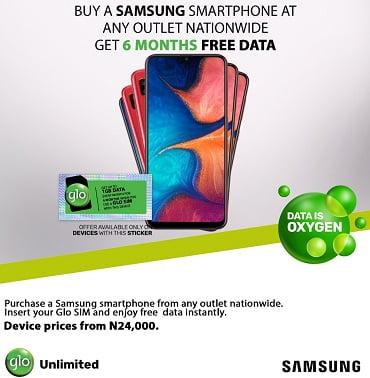 Glo Free Data for Samsung Handset