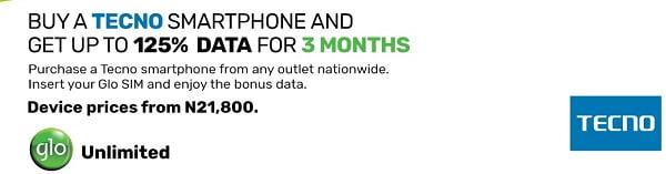 Tecno Glo data free offer