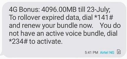 Airtel 4G LTE 4gb free data
