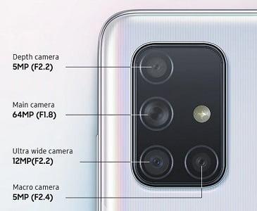 Galaxy A71 Rear Cameras