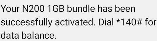 Airtel 1GB for N200