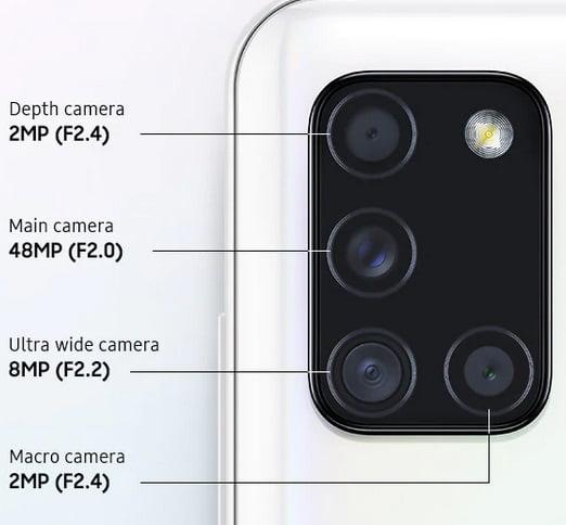 Galaxy A21s Camera