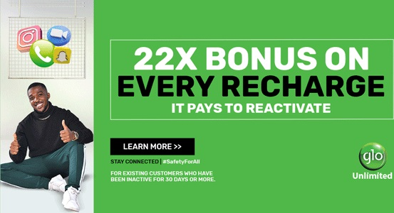 Glo 22x times bonus