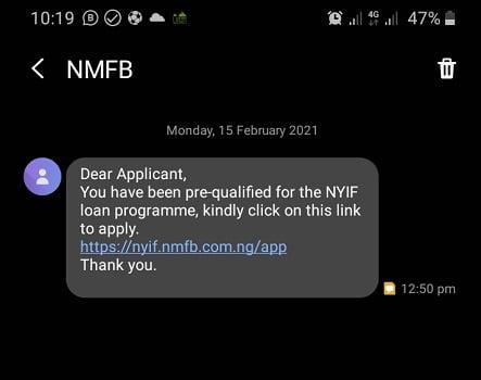 Nigeria Youth Investment Fund Loan Program