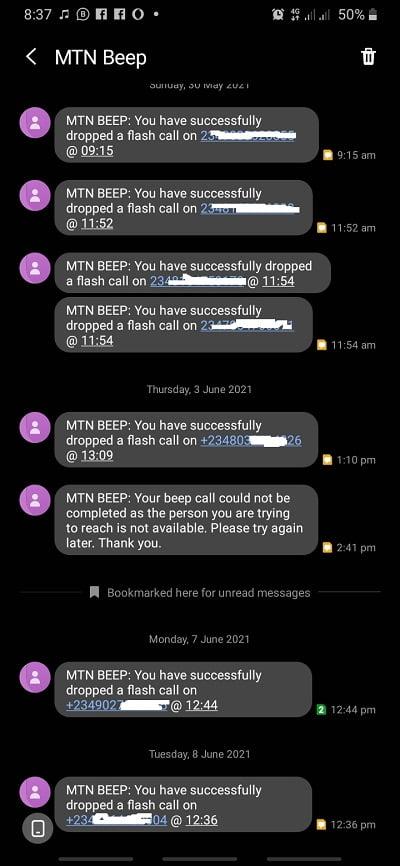 MTN Beep Glo Free call
